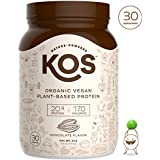 KOS Organic Plant Based Protein Powder – Raw Organic Vegan Protein Blend, 2.2 Pound, 30 Servings (Chocolate)