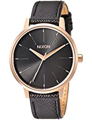 Nixon Womens Kensington Quartz Metal and Leather  Watch, Color:Black (Model: A1081098-00)