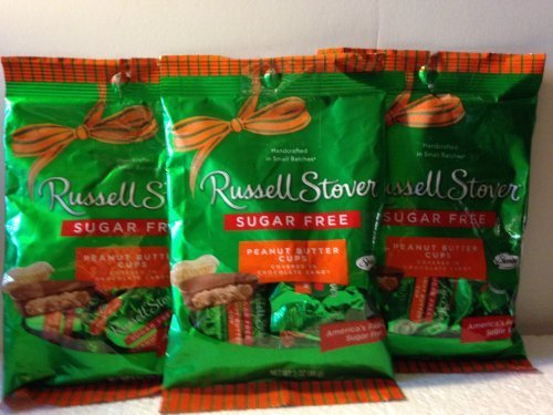 Sugar Free Chocolate Peanuts - Russell Stover Sugar Free Peanut Butter Cups (Pack of 3)