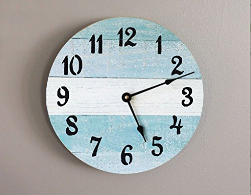 Rustic Beach Wall Clock - 10