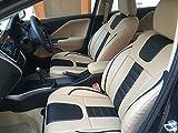 Autofact PU Leatherite / Rexin Car Seat Covers For For Tata Tiago(Beige:Black)