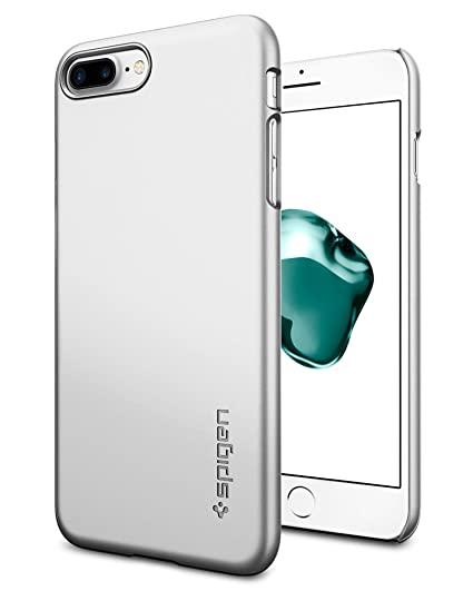 sale retailer 4c443 12e6e Spigen Thin Fit iPhone 8 Plus / 7 Plus Case with Premium Matte Finish  Coating and QNMP Compatible for Apple iPhone 8 Plus (2017) / iPhone 7 Plus  ...