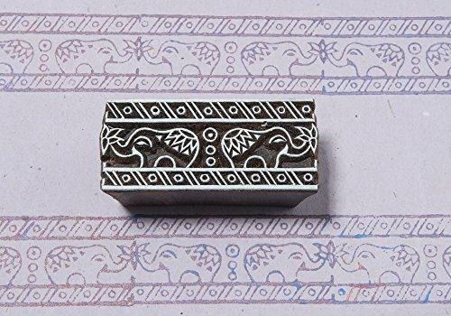 Blockwallah Mughal Elephants Wooden Block ()