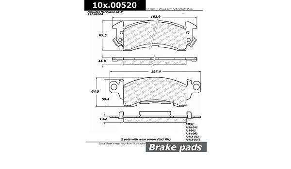 StopTech 103.07720 Brake Pad Ceramic