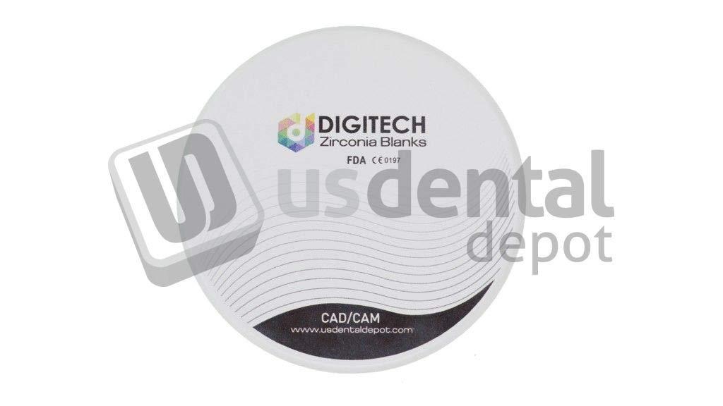 DIGITECH - ML 4D at Dental Zirconia Block 98.5mm x 18mm A2-A3 Multilayer Anterior Translucent # -98.518 4D ATMA2 [ bloques Dental Zirconia Multilayer multicapa ] 124137