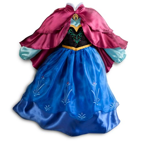 Disney Store Frozen Princess Anna Costume Size Medium 7/8 (With Cape) for $<!--$60.00-->