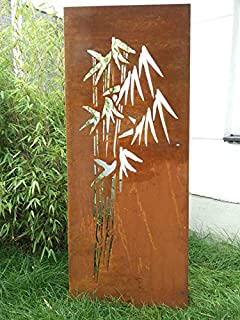 Amazon De Garten Sichtschutz Aus Metall Rost Gartenzaun Gartendeko