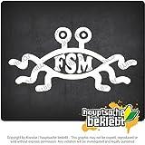 Kiwistar FSM FSM 19,8cm x 10cm 15色 - ネオン+クロム! ステッカービニールオートバイ