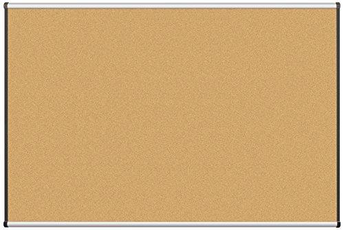 Best-Rite Origin Trim-Aluminum/Natural Cork Bulletin Board, 4 x 6 Feet (301OG-01)