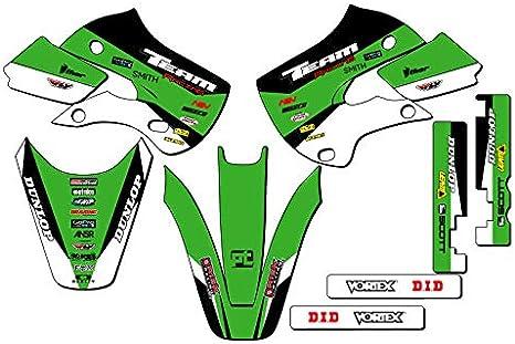 ANALOG Complete Kit Team Racing Graphics kit compatible with Kawasaki All Years KX 65