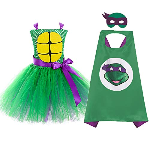 (Teenage Mutant Ninja Turtles Donatello Costume for Kids Girl)