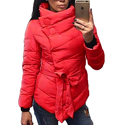 Donne Donna 4 Cappotti Xl Xxl Colori Rosso Invernali Del Imbottita M L Invernale Cappotto Juleya Esterna Calda Asimmetrico S Giacca 8qndF