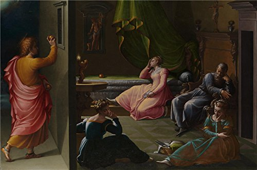 [Oil Painting 'Girolamo Macchietti The Charity Of St Nicholas Of Bari', 10 x 15 inch / 25 x 38 cm , on High Definition HD canvas prints is for Gifts And Gym, Hallway And Nursery] (Dead Poets Society Costume)
