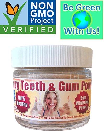 Poudre de dents & gomme heureux - organique/Simone réduire gomme maladie & récession, gingivite, Plaque, saignements des gencives, mauvaise haleine, sensibilité, Inflammation