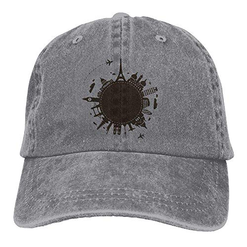 Hat Green World Travel Denim Skull Cap Cowboy Cowgirl Sport Hats for Men Women
