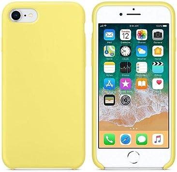 CABLEPELADO Funda Silicona iPhone 6/6s Textura Suave Amarillo Claro: Amazon.es: Electrónica