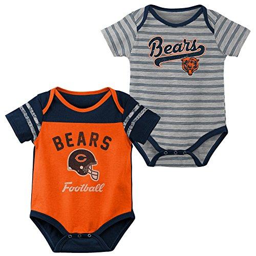 Outerstuff NFL NFL Chicago Bears Newborn & Infant Dual-Action 2 Piece Bodysuit Set Orange, 24 Months