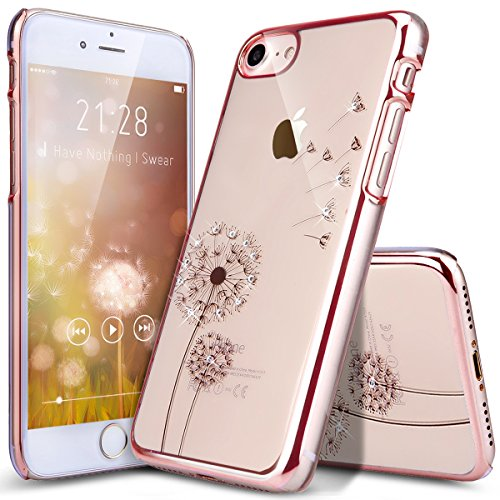 iPhone 8 Case,iPhone 7 Case,ikasus Plating Dandelion Glit...