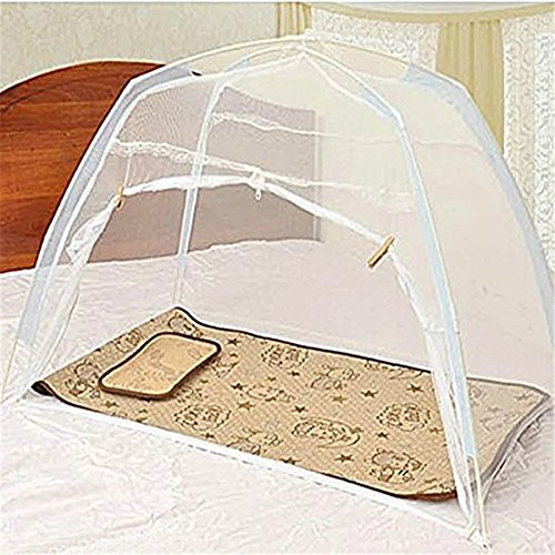 Staringirl Baby Kids Infant Nursery Bed Crib Tent Safety Net Pop Up Canopy Cover Baby Mosquito Net Yurts Nets (White)