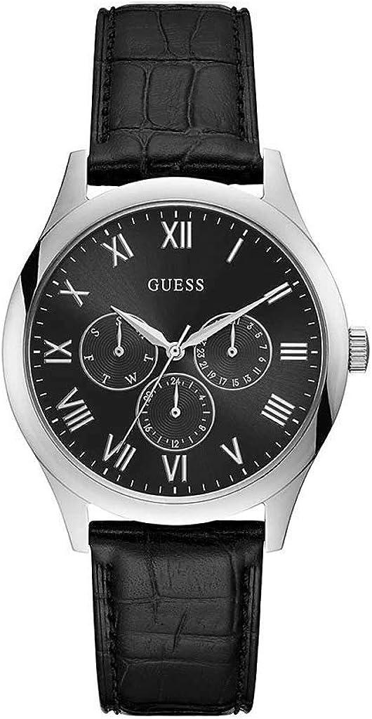 Guess Reloj Analógico para Hombre de Cuarzo con Correa en Cuero W1130G1