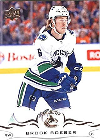 74ccd687e23 Amazon.com: Hockey NHL 2018-19 Upper Deck #177 Brock Boeser Canucks ...