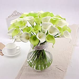 Artificial Flowers Calla For Home Pu Flowers 38Cm Long 86