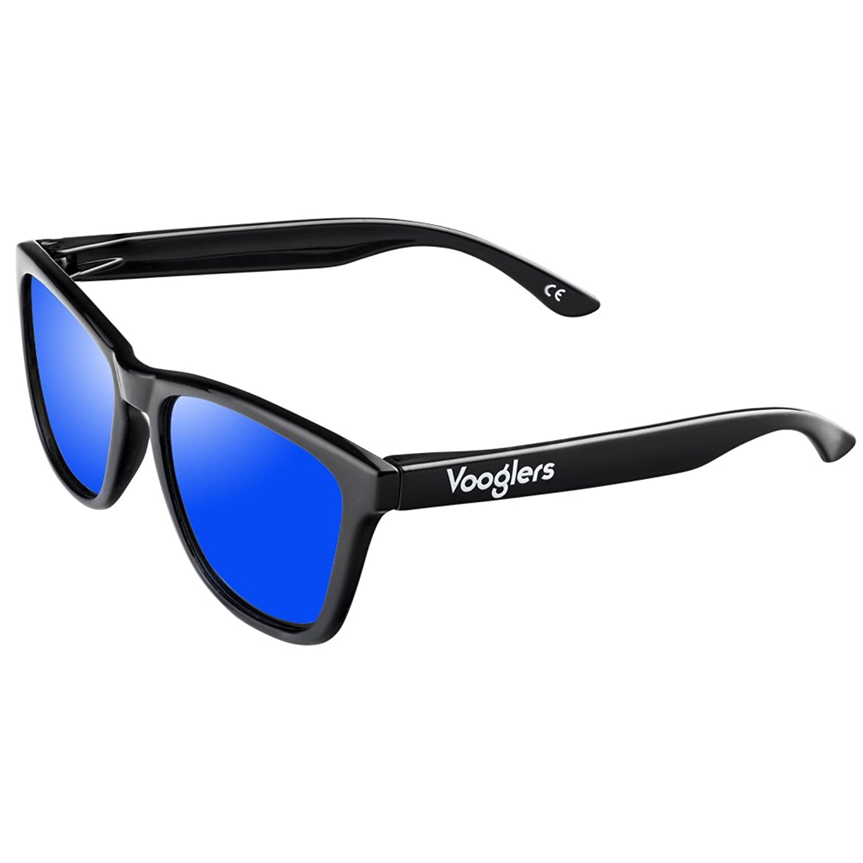 Vooglers® Lunettes De Soleil Polarisées Sunglasses Unique Madrid Night Polarized Uv400 Cadre Lumineux Noir Brillant QzB9fJ