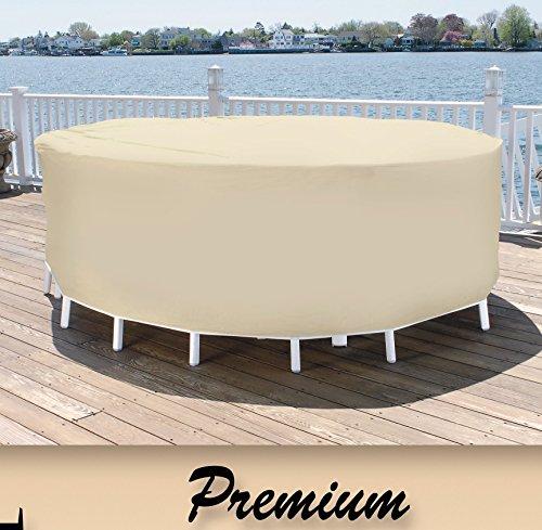 Patio Essentials Premium Heavy Duty Round Patio Table & Chair Set Cover - 84