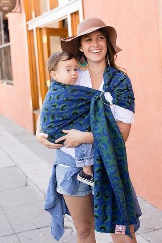 Baby Tula 100 Cotton Ring Sling Baby Carrier Ergonomic Adjustable Front And Hip Carry For 8 35