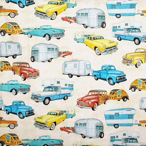 Cars, Trucks & Campers Dish Drying Mat - Pet Placemat - Appliance Mat - Vintage Automobiles - -