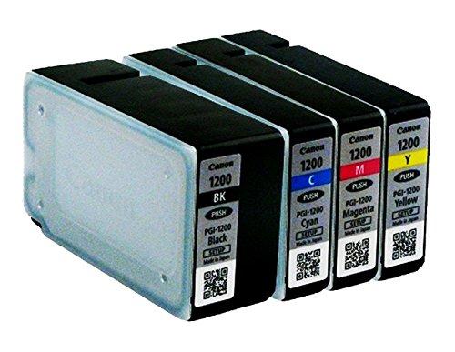 Price comparison product image Canon MAXIFY PGI-1200 Genuine Ink Cartridge Full Set Multi-pack (Black,  Cyan,  Magenta,  Yellow) Canon MAXIFY MB2020 MB2030 MB2320 MB2050 MB2350 MB2120 MB2720