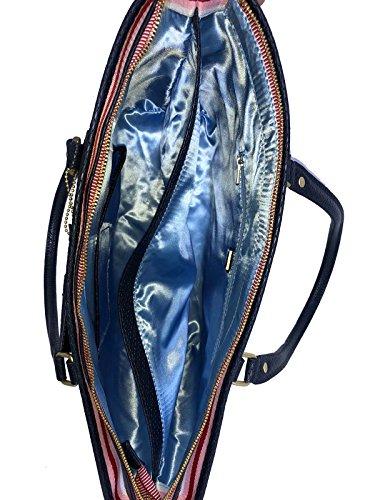 Sansibar borsa tote 34 cm Blu
