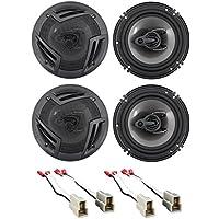93-07 Subaru Impreza Rockville CS Front+Rear Door 6.5 Speaker Replacement Kit