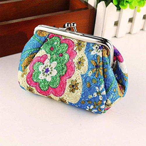 sac YUYOUG Vintage Femmes main à d'embrayage Rétro sac Flower A Wallet Femmes Portefeuille Hasp F8UqnIaU