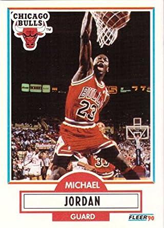 201147f0036 Amazon.com: 1990-91 Fleer #26 Michael Jordan Basketball Card Chicago ...