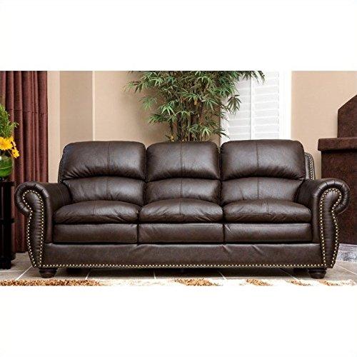 Abbyson Living Gail Premium Top Grain Leather Sofa