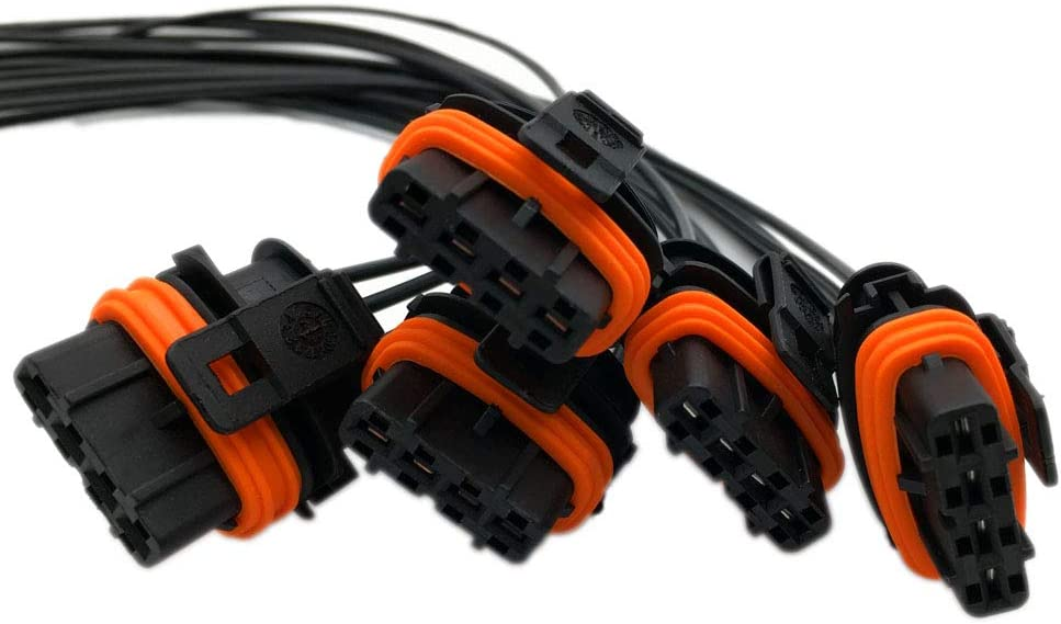 ALLMOST 5pcs set Electrical Connector of Ignition Coil UF341 Compatible with Volvo 5 Cyl plug