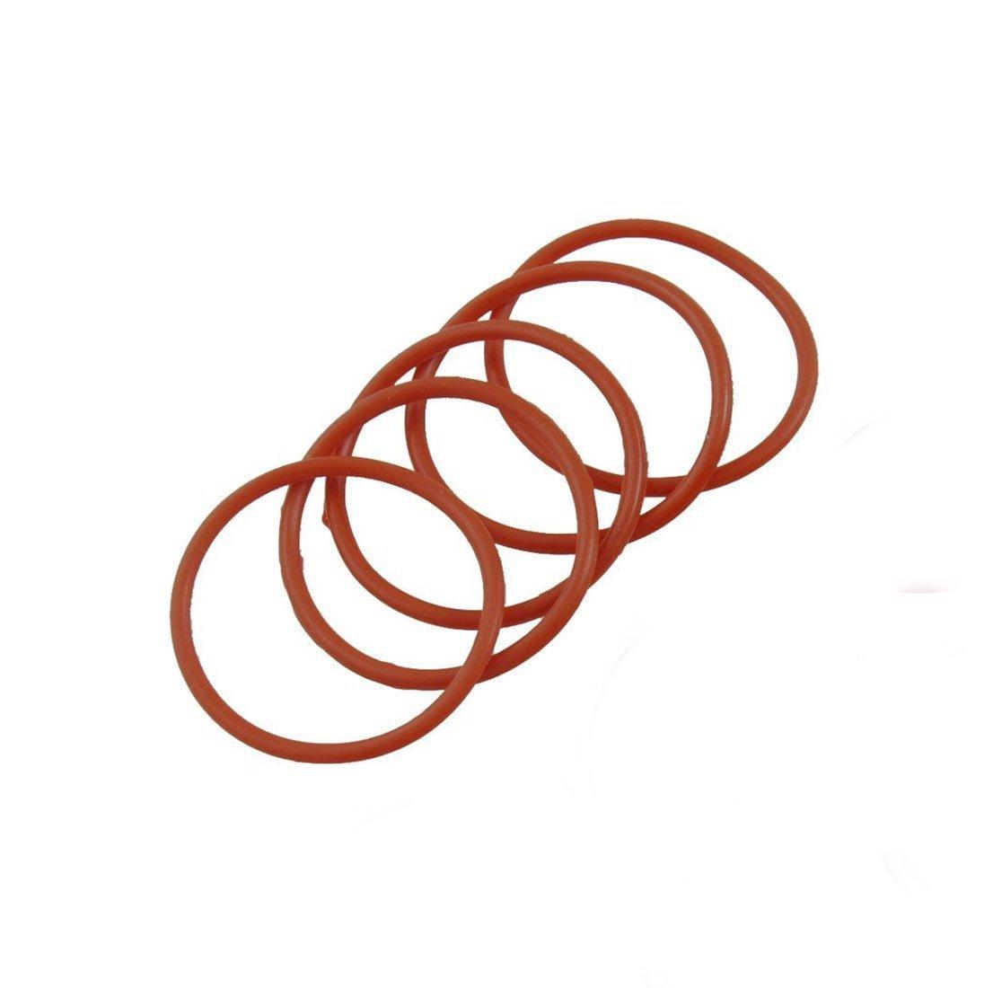 0,6 cm de ancho 5 juntas t/óricas de silicona para juntas t/óricas de 10,0 cm de di/ámetro exterior de 3,5 cm de di/ámetro interior Flyshop