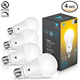Triangle Bulbs T95141, LED Dimmable 100 Watt Equivalent Soft White LED Light Bulbs, 1600 Lumens, 4-PACK