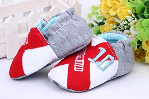 Bigood Chaussure Bébé Enfant Chaussures Antidérapant Gris