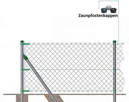 2 Zoll OuM 10 St/ück Pfostenkappe Zaunpfahlkappe rund 60,3mm Schwarz