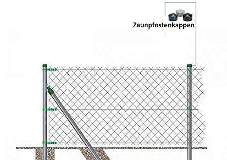 OuM 30/pezzi per pali palo di recinzione tappo rotondo 38/mm 40/mm 42/mm 42,4/mm 44,5/mm 48,3/mm 51/mm 60,3/mm 76/mm