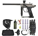 Spyder Fenix Electronic Paintball Marker Gun 3Skull Sniper Set - Silver/Grey