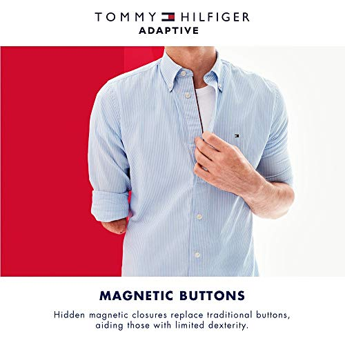 2505247f ... S Tommy Hilfiger Boys' Adaptive Polo Shirt with Magnetic Buttons, ...