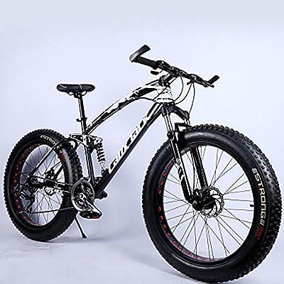 JAEJLQY Bicicleta de Montaña de 7/21/24/27 velocidades de 26/20 ...