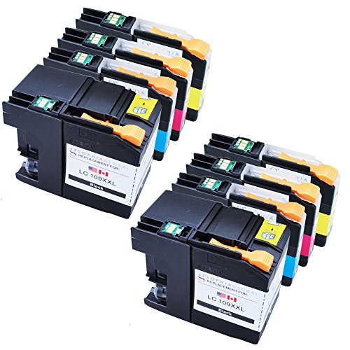 Sophia Global Compatible Ink Cartridge Replacement for LC109XXL and LC105XL (2 Black, 2 Cyan, 2 Magenta, 2 Yellow)