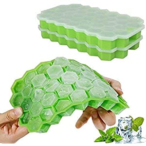 BPA-Free Ice Cube Mold Storage Containers for Kitchen Bar Party Drinks TEERA 160 Small Cube Silicone Molds Mini Ice Cube Trays