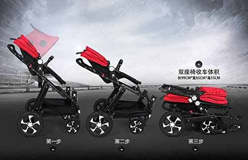 twin baby stroller,double strollers twins ,landscape baby stroller 3 in 1,strollers for twins,baby bassinet,twins prams