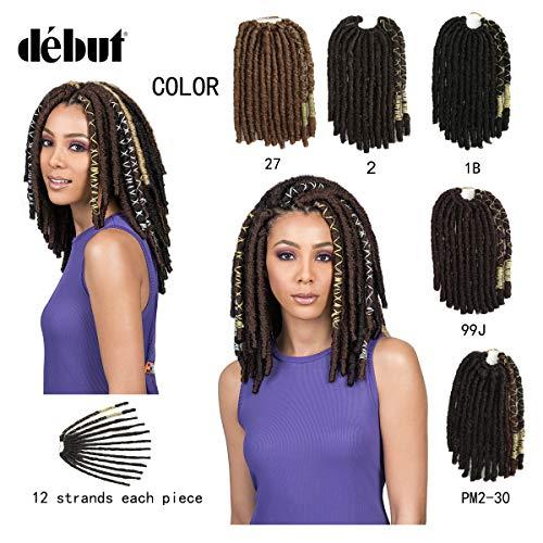 DÉBUT crochet hair goddess locs passion twist fauxs locs spring twist jamaican bounce box braids Synthetic braiding hair Extensions BAE LOCS 12 inch 57g 19 ()
