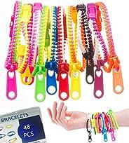 UpBrands - Pulseras de amistad con cierre de cierre, 7,5 pulgadas, juguetes sensoriales, colores de neón, kit